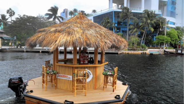 The Tiki Bar Boat