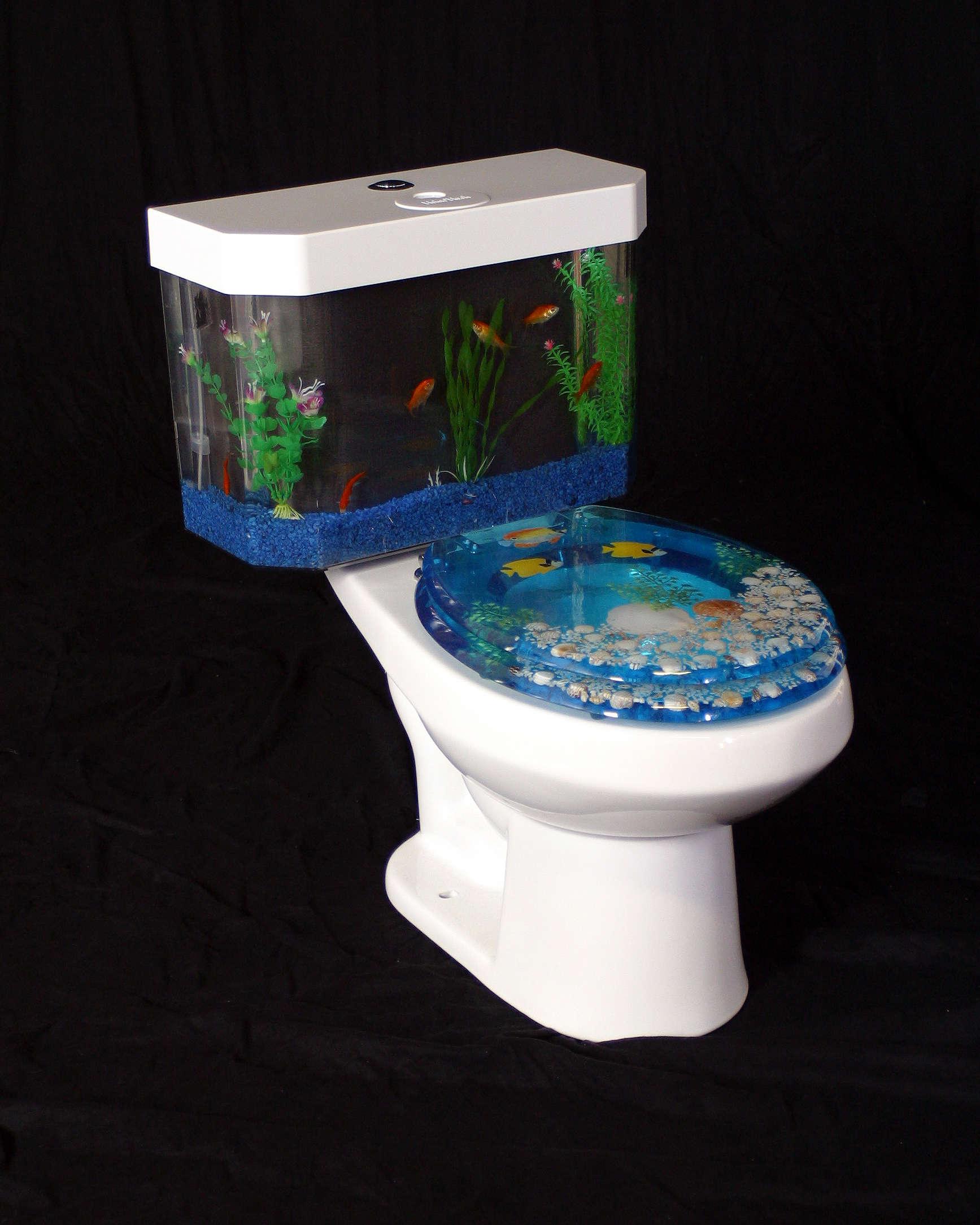 Fish tank toilet -