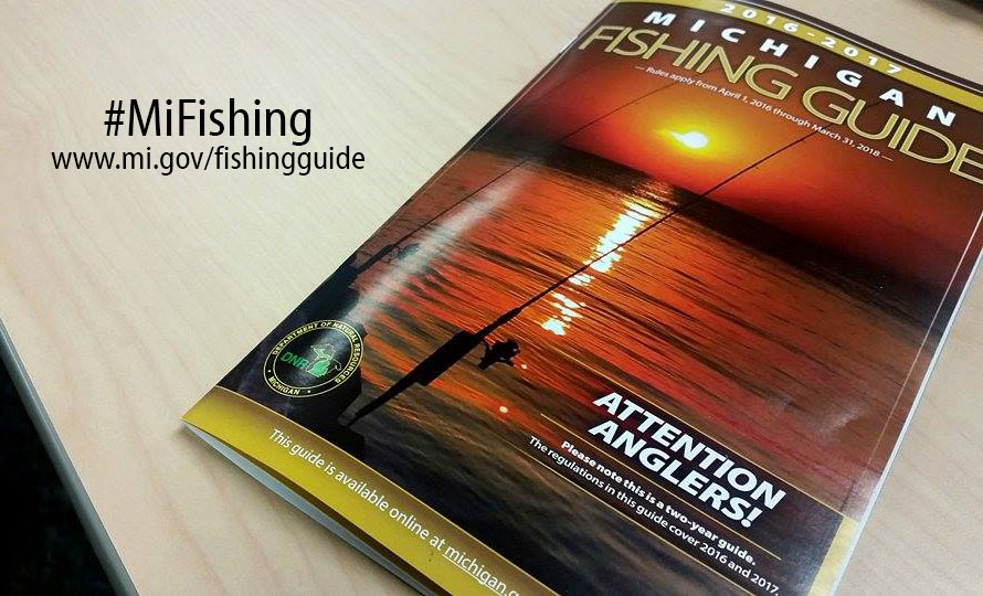 2016 2017 michigan fishing guide available at license for Michigan fishing regulations 2017